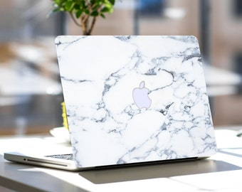 "Bianco Sivec White Marble Skin for Apple Macbook Air , Macbook Pro , New Macbook Pro 13 Touch , New Macbook 12 , New Macbook Air 13"" A2179"