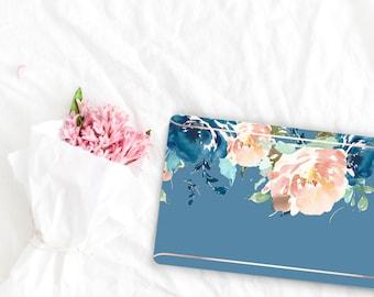 Rackley Flowerly Collection Leather Macbook Case . Distinctive Macbook Hard Case and Rose Gold . Macbook Pro 13 Case . Custom Monogram