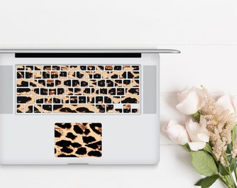 Elusive Leopard . Keyboard Key Decal . Keys and Touchpad . Macbook Pro 13  . Macbook Air . Microsoft Surface . Macbook Air 13 . Keycal