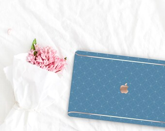Rackley Pattern Collection Leather Macbook Case . Distinctive Macbook Hard Case and Rose Gold . Macbook Pro 13 Case A2159  . Custom Monogram