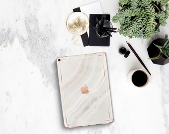 Marble Stone with Rose Gold Detailing Vinyl Skin for the iPad Air 2, iPad mini 4 , iPad Pro - Platinum Edition