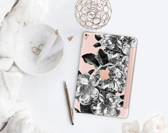 "Black Rose Quartz with Rose Gold Smart Cover Hard Case for      iPad 9.7 2018.  iPad Pro 12.9 2018 . iPad Pro 11"" . iPad Air 10.5"""