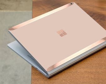 Toasted Wheat and Rose Gold Edge Vinyl Skin  Microsoft Surface Pro X , Surface Laptop 3 , Surface Pro 7  . Surface Go . Surface Book 3