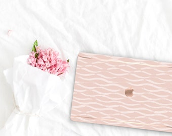 French Rose Pattern Collection . Leather Macbook Case . Distinctive Macbook Hard Case and Rose Gold . Macbook Pro 13 Case . Custom Monogram