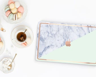 Platinum Edition . Macbook Pro 13 Case Paris Mint Makrana Marble . Distinctive  .   Macbook Pro 13 A1989 A2159 . Pro 16 Touch A2141 . A1990