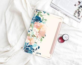 "White Chalk with Rose Gold Smart Cover Hard Case . iPad Pro 12.9 2018 . iPad Pro 11"" . iPad Air 10.5"". iPad Mini 5 . Custom Monogram"