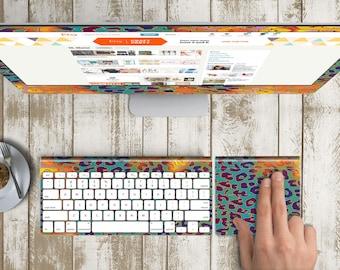 "African Kaleidoscope Vinyl Skin for iMac 21.5""  . iMac 27"" 5k (Includes Wireless Apple Keyboard / Apple Magic Touchpad / Foot). Monogram"