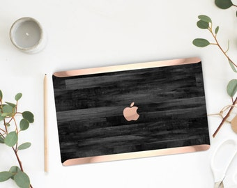 Platinum Edition . Macbook Pro 13 Case Bold Untreated Rustic Black Wood . Distinctive  .   Macbook Pro 13 A1989 A2159 . Pro 16 Touch A2141