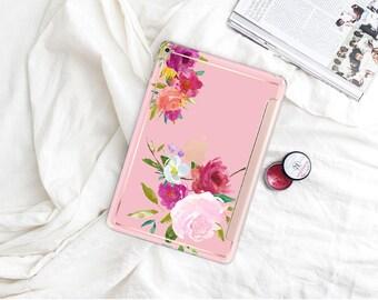 "Pink with Rose Gold Smart Cover Hard Case . iPad Pro 12.9 2018 . iPad Pro 11"" . iPad Air 10.5"". iPad Mini 5 . Custom Monogram"