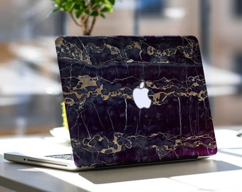 "Black and Bronze Marble Texture Skin for Apple Macbook Air , Macbook Pro , New Macbook Pro 13 Touch , New Macbook Air 13"" A2179"