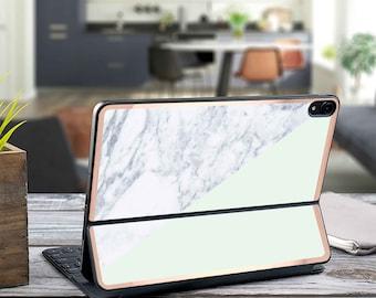 "Paris Mint Makrana Marble and Rose Gold Vinyl Skin Decal - Apple Smart Keyboard Folio iPad Pro 11"" . iPad Pro 12.9"" . iPad Air 10.5"""