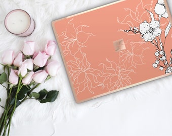 Tumbleweed Flowerly Collection and Rose Gold Edge Vinyl Skin Microsoft Surface Book 2 , Surface Laptop 2 , Surface Pro 6 . Surface Go