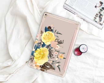 "Pale Silver with Rose Gold Smart Cover Hard Case . iPad Pro 12.9"" 2020 . iPad Pro 11"" . iPad Air 10.5"". iPad Pro  2020 . Custom Monogram"