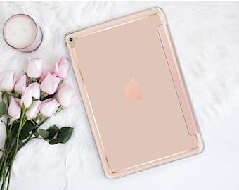 "Toasted Wheat and Rose Gold Smart Hard Case for the      iPad 9.7 2018  .  iPad Pro 12.9"" 2020 . iPad Pro 11"" . iPad Air 10.5"". iPad Mini 5"