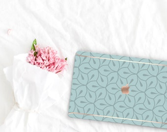 Hazy Pattern Collection Leather Macbook Case . Distinctive Macbook Hard Case and Rose Gold . Macbook Pro 13 Case A2159  . Custom Monogram