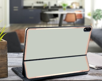 "Light Pistachio and Rose Gold Vinyl Skin Decal - Apple Smart Keyboard Folio iPad Pro 11"" . iPad Pro 12.9"" . iPad Pro 2020 . iPad"