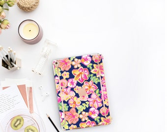"Havana Nights and Rose Gold Accents . Lilly Pulitzer Inspired . Smart Keyboard compatible Hard . iPad Air 10.5"" . iPad Mini 5 iPad Pro 10.5"""