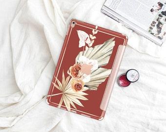 "Cinnamon with Rose Gold Smart Cover Hard Case . iPad Pro 12.9 2018 . iPad Pro 11"" . iPad Air 10.5"". iPad Mini 5 . Custom Monogram"