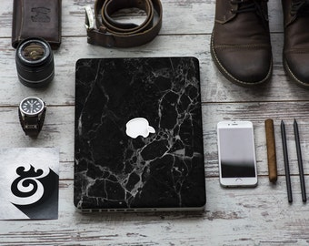 Black Marble Texture Skin for Apple Macbook Air , Macbook Pro , New Macbook Pro 13 Touch , New Macbook 12 , New Macbook Pro 15 Touch