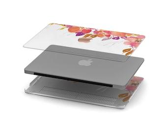 Cadmium Crystal Clear Transparent Macbook Case . Distinctive Macbook Hard Case and Rose Gold Apple . Macbook Pro 13 Case A2159  . Monogram