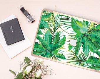 Macbook Pro 13 Case Macbook Air Case Laptop Case Macbook Case . Congo Jungle and Rose Gold Chrome Detailing           - Platinum Edition
