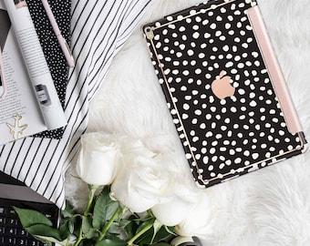 "Dots and Cream with Rose Gold Smart Cover Hard Case . Kate Spade Inspired.  iPad Pro 12.9 2018 . iPad Pro 11"" . iPad Air 10.5"". iPad Mini 5"