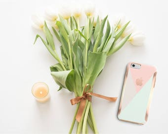 Pastel Shades iPhone Case and Rose Gold   Otterbox Symmetry             . iPhone X . iPhone Xs Max . iPhone XR . iPhone 8 . PopSocket