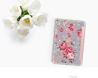 "Richmond Rose Gray with Rose Gold Smart Cover Hard Case for      iPad 9.7 2018.  iPad Pro 12.9"" 2020 . iPad Pro 11"" . iPad Air 10.5"""