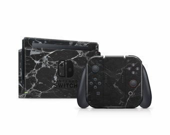 Black Marble Vinyl Skin Decal for Nintendo Switch Lite 2019 . Nintendo 3ds XL 2011 .  Nintendo Switch Game Console Bundle