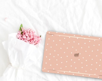 Desert Sand Pattern Collection . Leather Macbook Case . Distinctive Macbook Hard Case and Rose Gold . Macbook Pro 13 Case . Custom Monogram