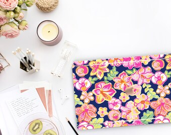 Havana Nights  .  . Lilly Pulitzer Inspired . Macbook Pro 15 Case PreppyMacbook Pro 13 A1989 A2159 . Pro 16 Touch A2141 . A1990