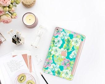 "Tropical Paradise with Rose Gold Smart Cover Hard Case  Lilly Pulitzer Inspired  iPad Pro 12.9 2018  iPad Pro 11""  iPad Air 10.5 iPad Mini 5"