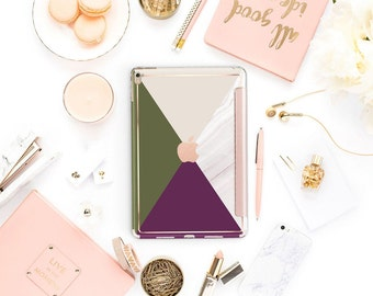 "Shades with Rose Gold Smart Cover Hard Case for iPad 9.7 2018 iPad Pro 12.9 2018 . iPad Pro 11"" . iPad Air 10.5"""
