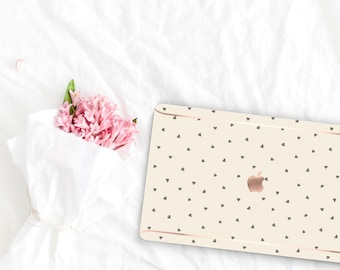 Alabaster Pattern Collection Leather Macbook Case . Distinctive Macbook Hard Case and Rose Gold . Macbook Pro 13 Case . Custom Monogram