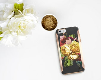 iPhone 8 Case iPhone 8 Plus Case iPhone X Vintage Floristry with Rose Gold Detailing  Hard Case Otterbox Symmetry