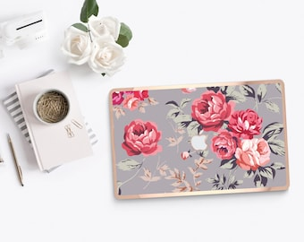 Richmond Rose Gray               . Distinctive Macbook Hard Case and Bold Rose Gold Accents . Macbook Pro 13 Case . Custom Monogram