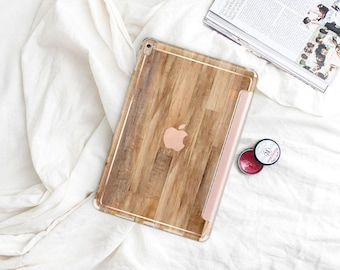 "Rustic Wood with Rose Gold Smart Cover Hard Case . iPad Pro 12.9"" 2020 . iPad Pro 11"" . iPad 10.2 Gen 8. iPad Pro  2020"