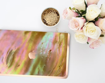 Nautilus Shell               . Distinctive Macbook Hard Case and Bold Rose Gold Accents . Macbook Pro 13 Case . Custom Monogram
