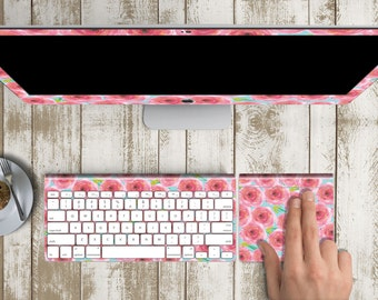 "Spring Mood Skin Vinyl Decal for iMac 21.5""  . iMac 27"" 5k (Includes Wireless Apple Keyboard / Apple Magic Touchpad / Foot). Monogram"