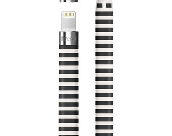 Kate Spade Inspired Black Stripes Vinyl Skin Decal for Apple Pen . Apple Pencil 2 . Apple Pencil