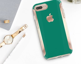 iPhone 8 Case iPhone 8 Plus Case iPhone X Cool Green iPhone Case and Rose Gold Hard Case Otterbox Symmetry