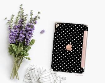 iPad Case . iPad Pro 10.5 . Small Polka with Rose Gold Smart Cover Hard Case for  iPad mini 4  iPad Pro  New iPad 9.7 2017