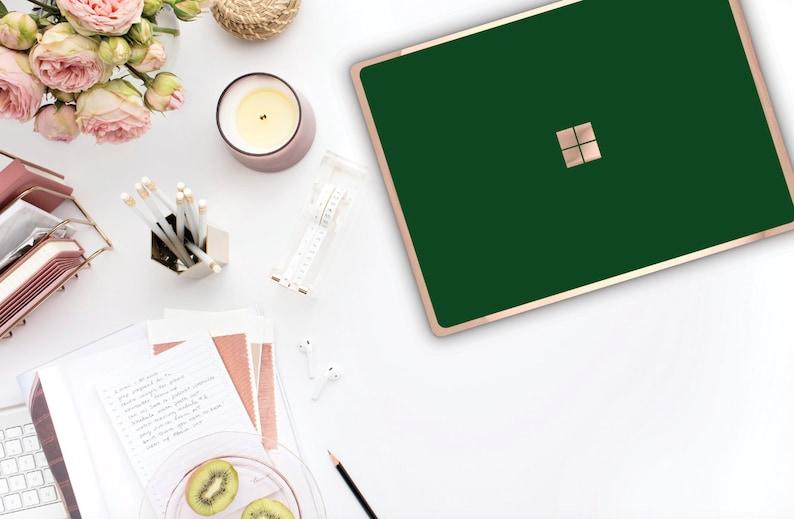 Surface Pro 7 Phthalo Green Rose Gold Edge Vinyl Skin  Microsoft Surface Pro X Surface Go  Monogram Surface Laptop 3