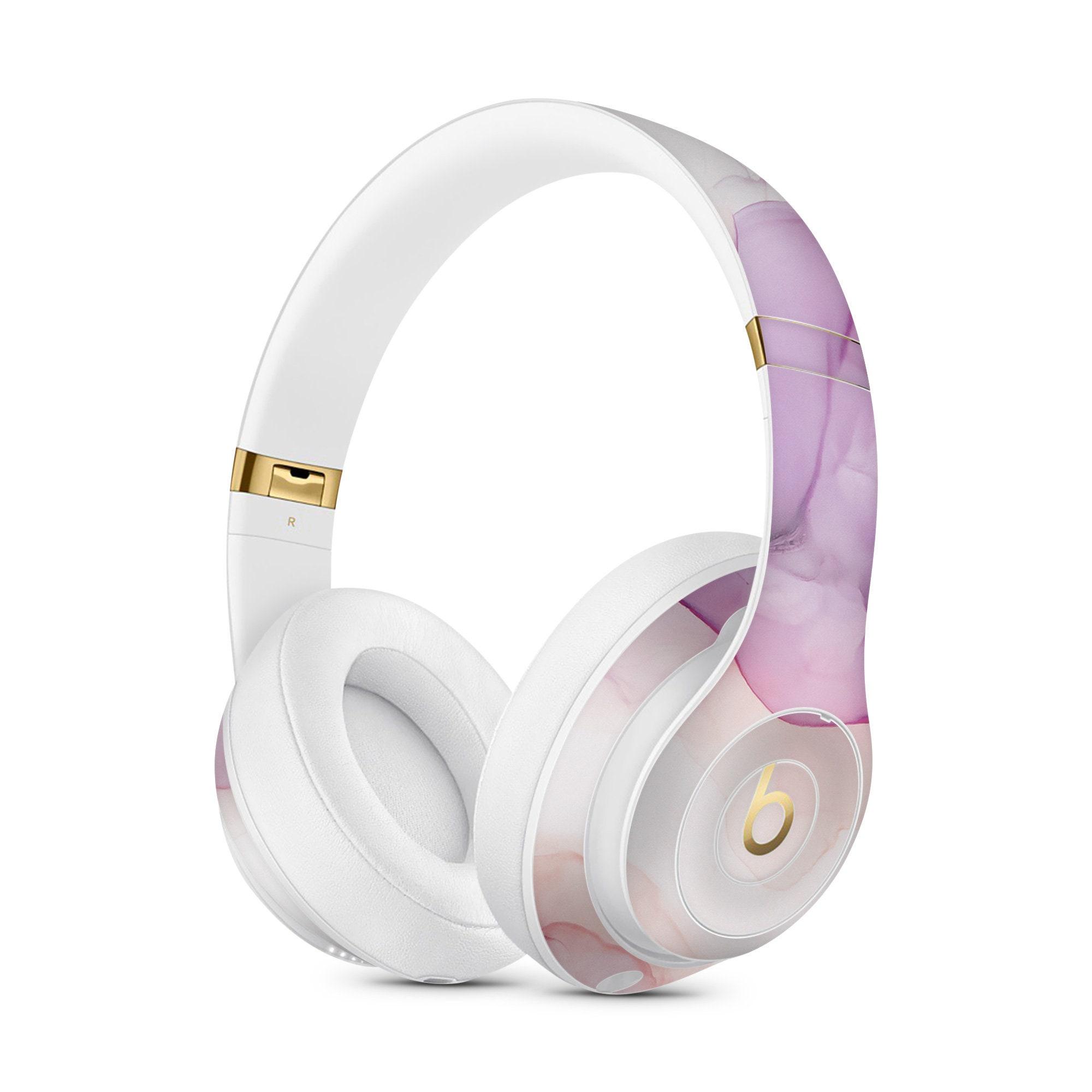 Amethyst Ink Marble Vinyl Skin Decal For Apple Beats Studio 3 A1914 Apple Beats Solo 3 A1796 Wireless Powerbeats 3 Bose 700