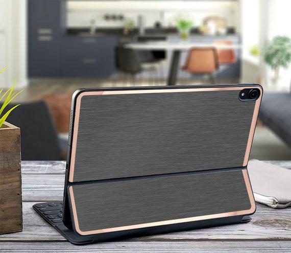 Brushed Gray and Rose Gold Vinyl Skin Decal - Apple Smart Keyboard Folio  iPad Pro 11