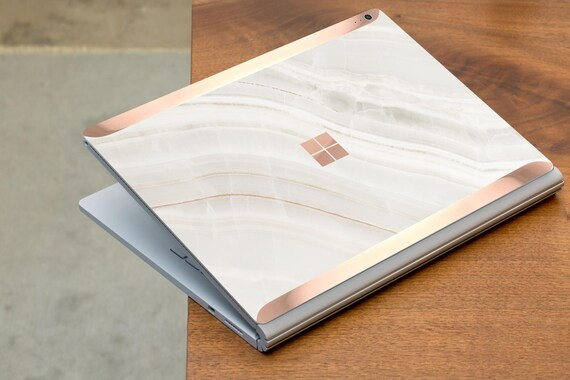Marble Stone And Rose Gold Edge Vinyl Skin Microsoft