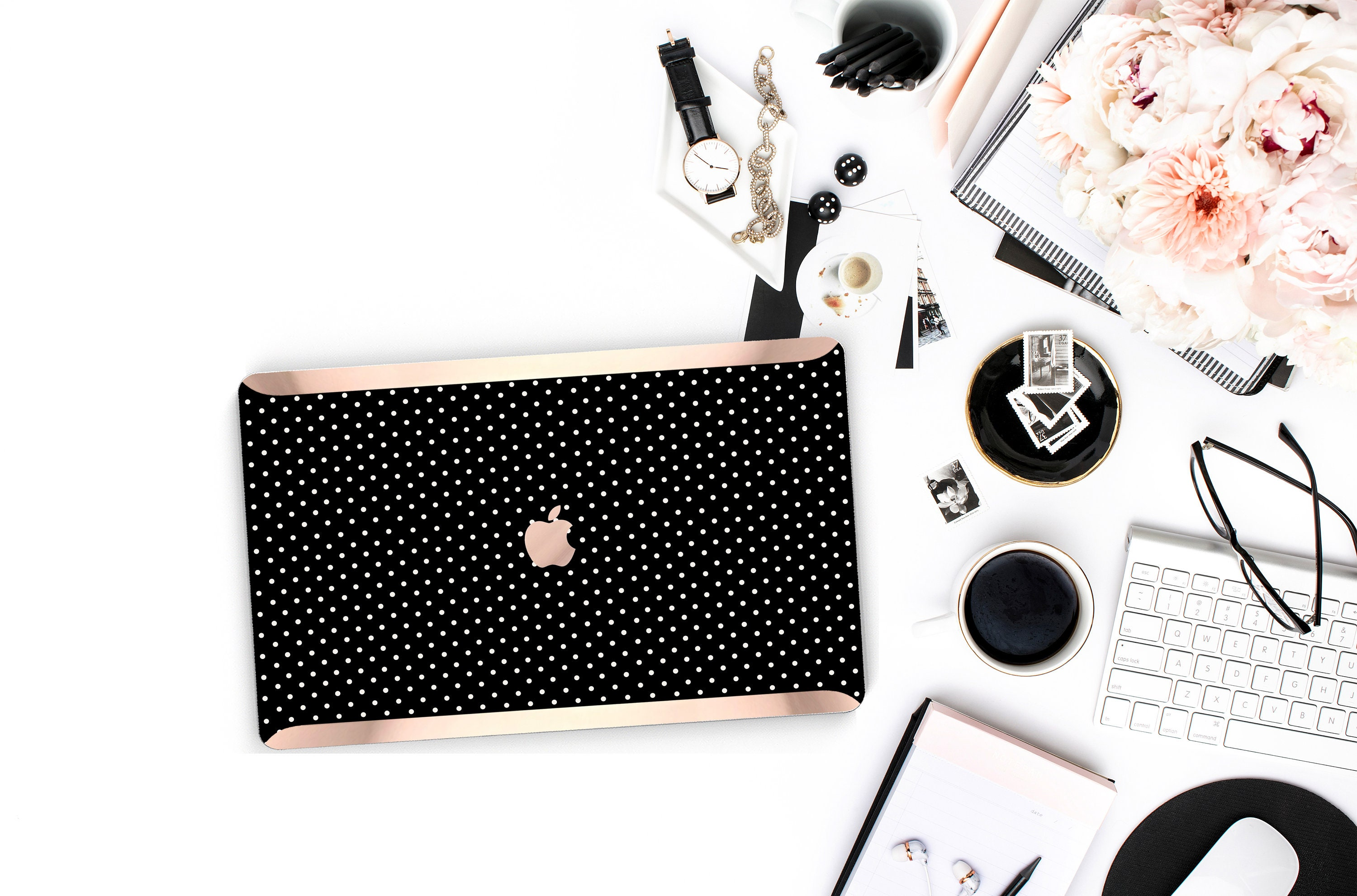 low priced a460d ef51d Polka Dot . Kate Spade Inspired . Distinctive Macbook Hard Case and ...