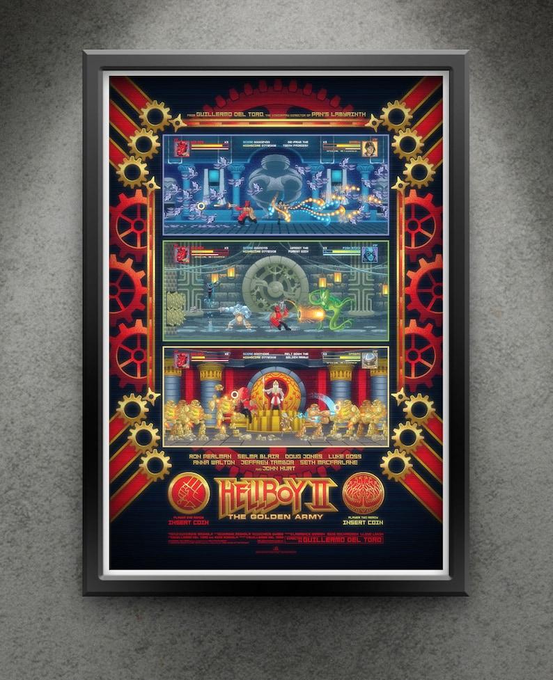 Hellboy II  Arcade Hellfire 13x19 image 0
