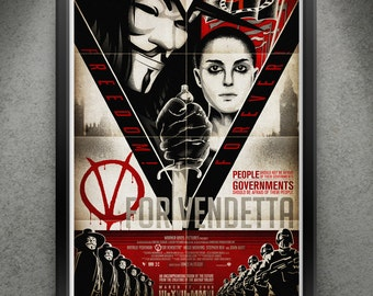"V For Vendetta - ""Freedom Forever"" 13x19"