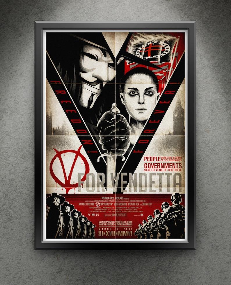 V For Vendetta  Freedom Forever 13x19 image 0